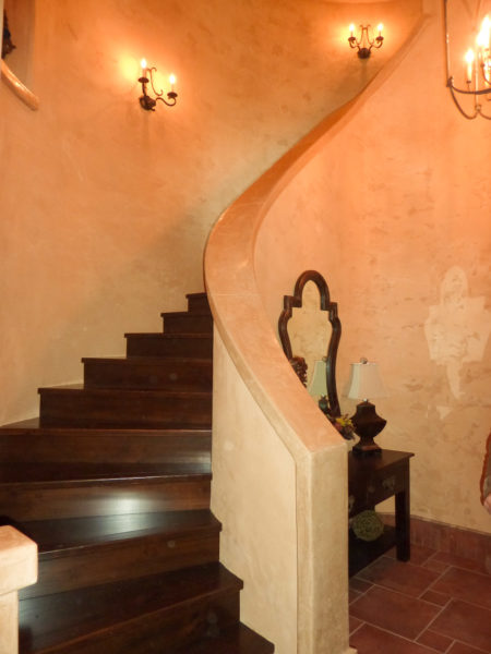 Plaster Walls With ArcusStone Hand Rail.